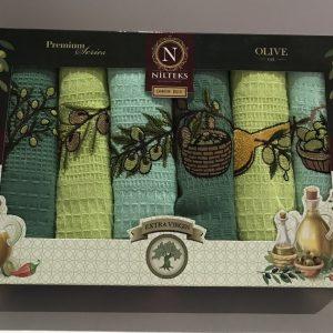 Набор кухонных полотенец Nilteks Extra Virgin 6 шт 40×60