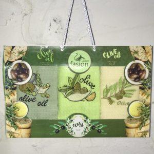 Набор кухонных полотенец Swan Fasion Olive Oil V01 40×60