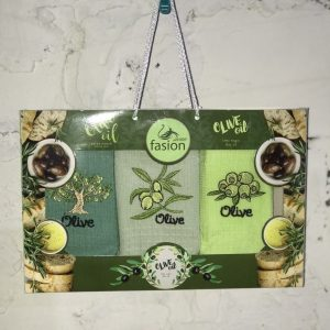 Набор кухонных полотенец Swan Fasion Olive Oil V02 40×60