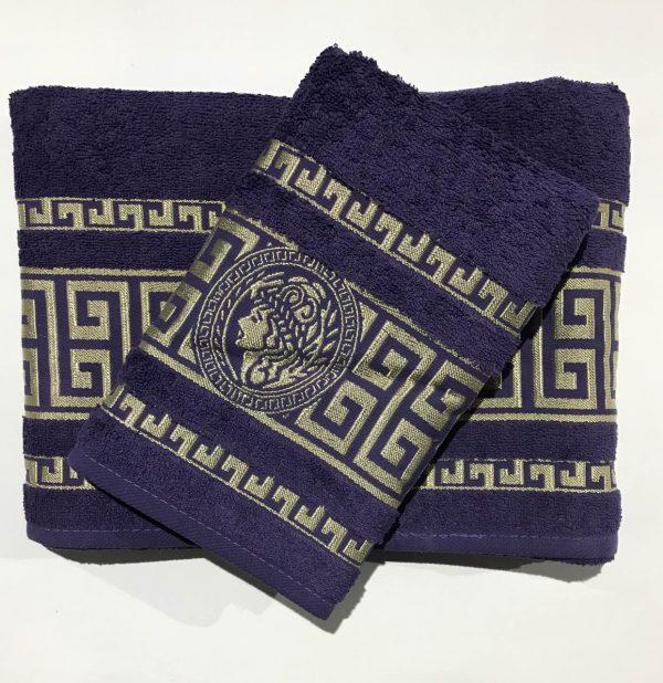 купить Набор махровых полотенец Gold Soft Life Версаче фиолетовый