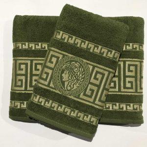 Набор махровых полотенец Gold Soft Life Версаче 50×90|70×140