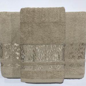 Набор махровых полотенец Gold Soft Life Kamilla beg 50×90 70×140