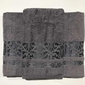 Набор махровых полотенец Gold Soft Life Kamilla black 50×90|70×140