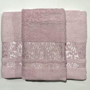 Набор махровых полотенец Gold Soft Life Kamilla pink 50×90|70×140