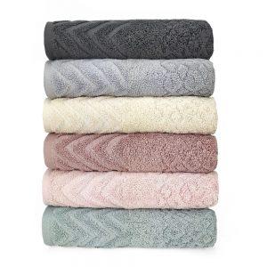 Набор махровых полотенец Sikel жаккард Anemon 6 шт