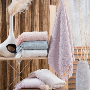Набор махровых полотенец Sikel жаккард Marina 6 шт