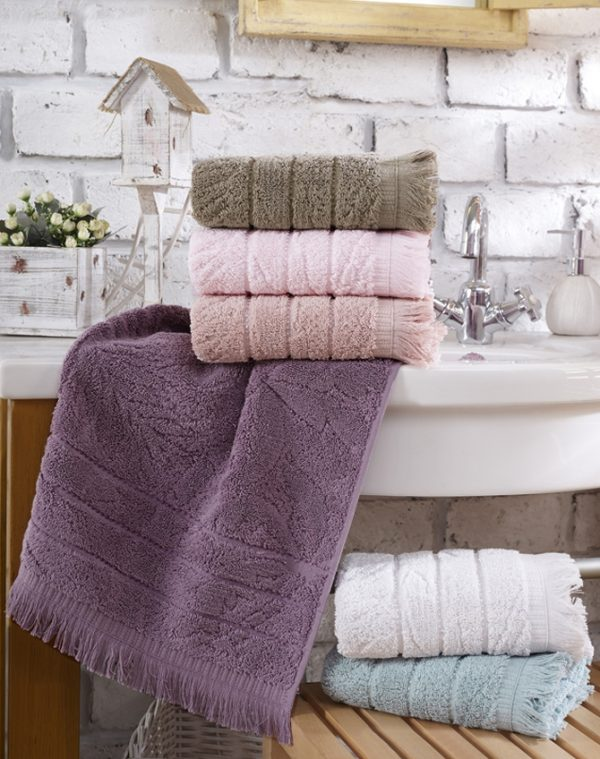 купить Набор махровых полотенец Sikel жаккард Miama Lux 6 шт