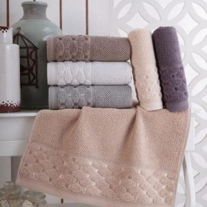 Набор махровых полотенец Sikel жаккард Silver 6 шт