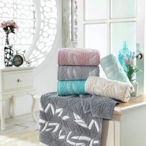 Набор махровых полотенец Sikel жаккард Zambak 6 шт
