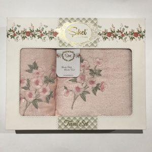 Набор махровых полотенец Sikel 3D Lux Sally 50×90|70×140