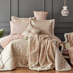 купить Покрывало с наволочками Karaca Home Sueno 2019-2 pudra Розовый фото