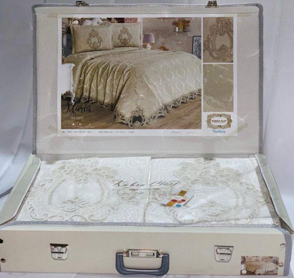 купить Покрывало с наволочками Kubra Class Marie White