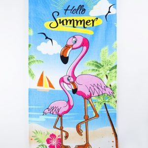 Полотенце пляжное Vende велюр Flamingo 75×150