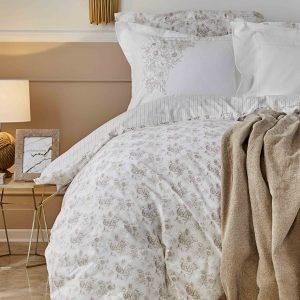 Постельное белье с пледом Karaca Home Brave gold 2020-1 200×220