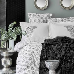 Постельное белье с пледом Karaca Home Brave silver 2020-1 200×220