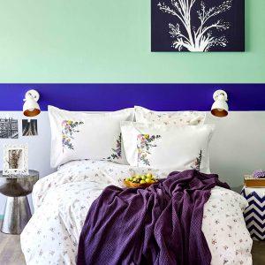 Постельное белье с пледом Karaca Home Fertile lila 2020-1 200×220