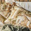 купить Постельное белье с пледом Karaca Home Vella yesil 2020-1 Коричневый фото 48083