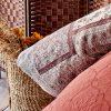 купить Постельное белье с покрывалом и пледом Karaca Home Maryam bordo 2020-1 Бордовый фото 48126