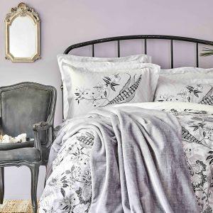 Постельное белье с покрывалом Karaca Home Arden siyah 2020-1 200×220