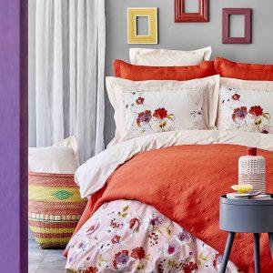 Постельное белье с покрывалом Karaca Home Elia pembe 2020-1 200×220