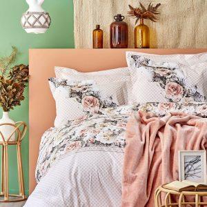 Постельное белье с покрывалом Karaca Home Elsa somon 2020-1 200×220