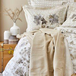 Постельное белье с покрывалом Karaca Home Ginza kahve 2020-1 200×220