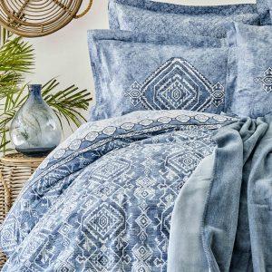 Постельное белье с покрывалом Karaca Home Lanika mavi 2020-1 200×220