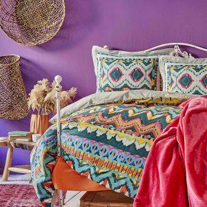 Постельное белье с покрывалом Karaca Home Mishka fusya 2020-1 200×220