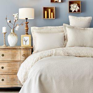 Постельное белье с покрывалом Karaca Home Monomia bej 2019-2 200×220