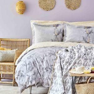 Постельное белье с покрывалом Karaca Home Veronica gri 2020-1 200×220