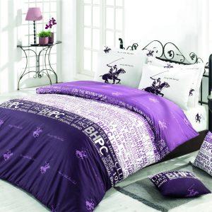 купить Постельное белье Beverly Hills Polo Club ранфорс BHPC 004 Lilak Фиолетовый фото