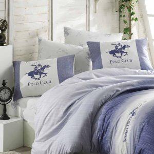 купить Постельное белье Beverly Hills Polo Club ранфорс BHPC 030 Blue Голубой фото