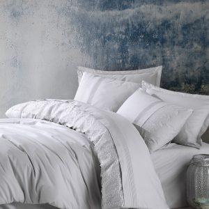 купить Постельное белье Cotton Box Ранфорс с вышивкой Elba Gri Серый фото