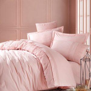 купить Постельное белье Cotton Box Ранфорс с вышивкой Elba Pudra Розовый фото
