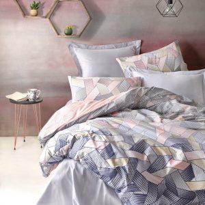 купить Постельное белье Cotton Box Dennis Gri Розовый|Серый фото