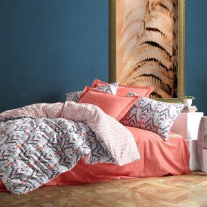 купить Постельное белье Cotton Box Minimal Tile Розовый|Серый фото