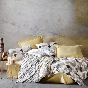 купить Постельное белье Cotton Box Stone Бежевый|Серый фото