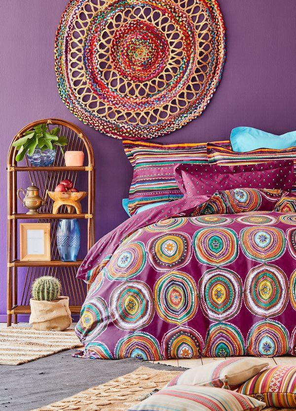 купить Постельное белье Karaca Home ранфорс Adya murdum 2020-1 Фиолетовый фото