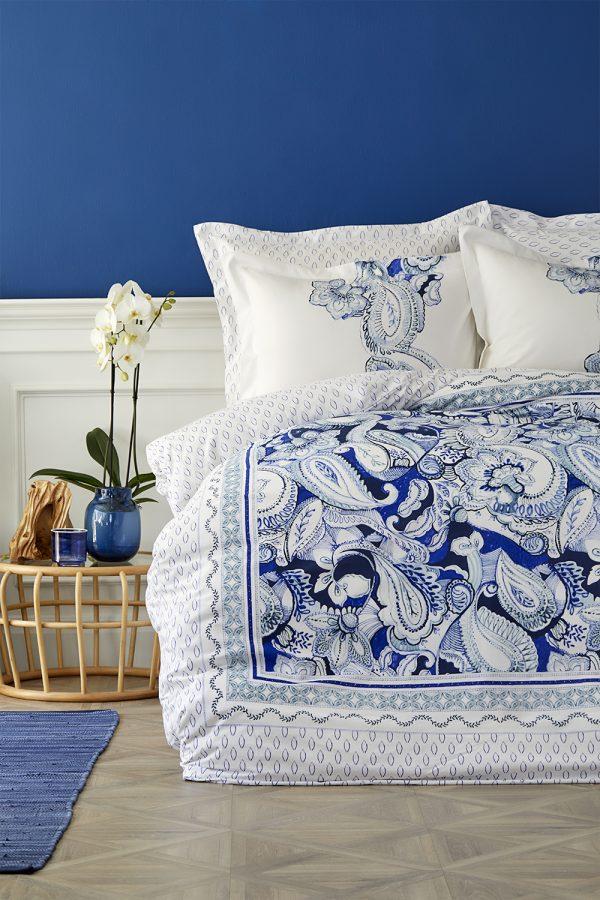 купить Постельное белье Karaca Home ранфорс Disna pano mavi 2019-2 Голубой фото