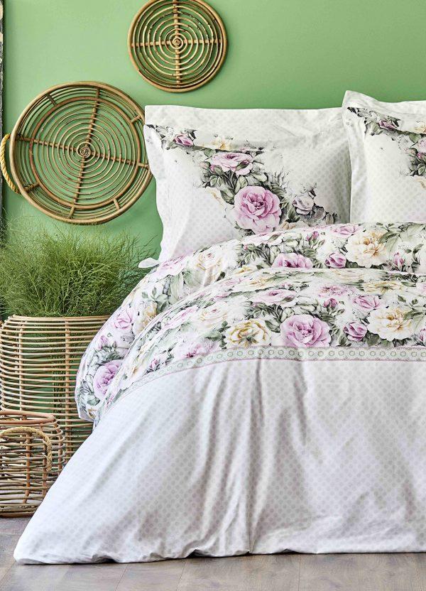 купить Постельное белье Karaca Home ранфорс Elsa pembe 2020-1 Сиреневый фото