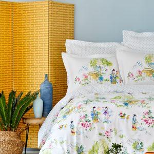 Постельное белье Karaca Home ранфорс Hinata yesil 2019-2 200×220