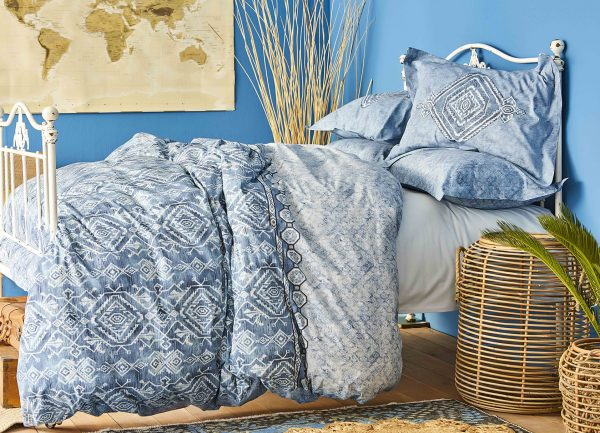 купить Постельное белье Karaca Home ранфорс Lanika mavi 2020-1 Голубой фото