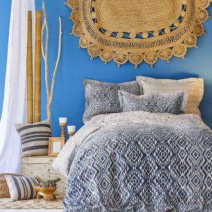 Постельное белье Karaca Home сатин Nitara mavi 2020-1 200×220