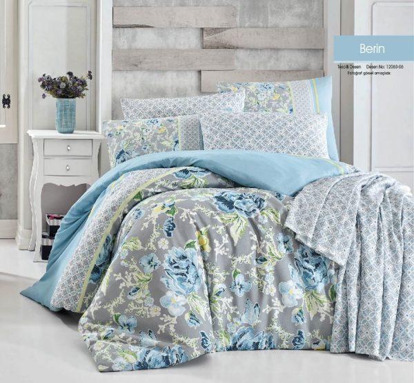купить Постельное белье Linda ранфорс 12063-06 Голубой|Серый фото