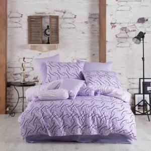 купить Постельное белье Majoli Magic Lilac Сиреневый фото