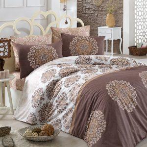 Постельное белье Majoli Oscar v5 Brown 200×220