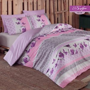 купить Постельное белье Majoli Sofya v2 Lilac Лиловый фото