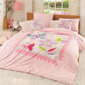 купить Постельное белье Majoli Trendy v2 Pink Розовый фото