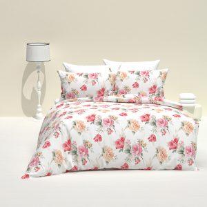 купить Постельное белье Majoli Tulip v1 Розовый фото
