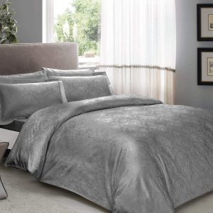 купить Постельное белье TAC Daria Antracit Серый фото